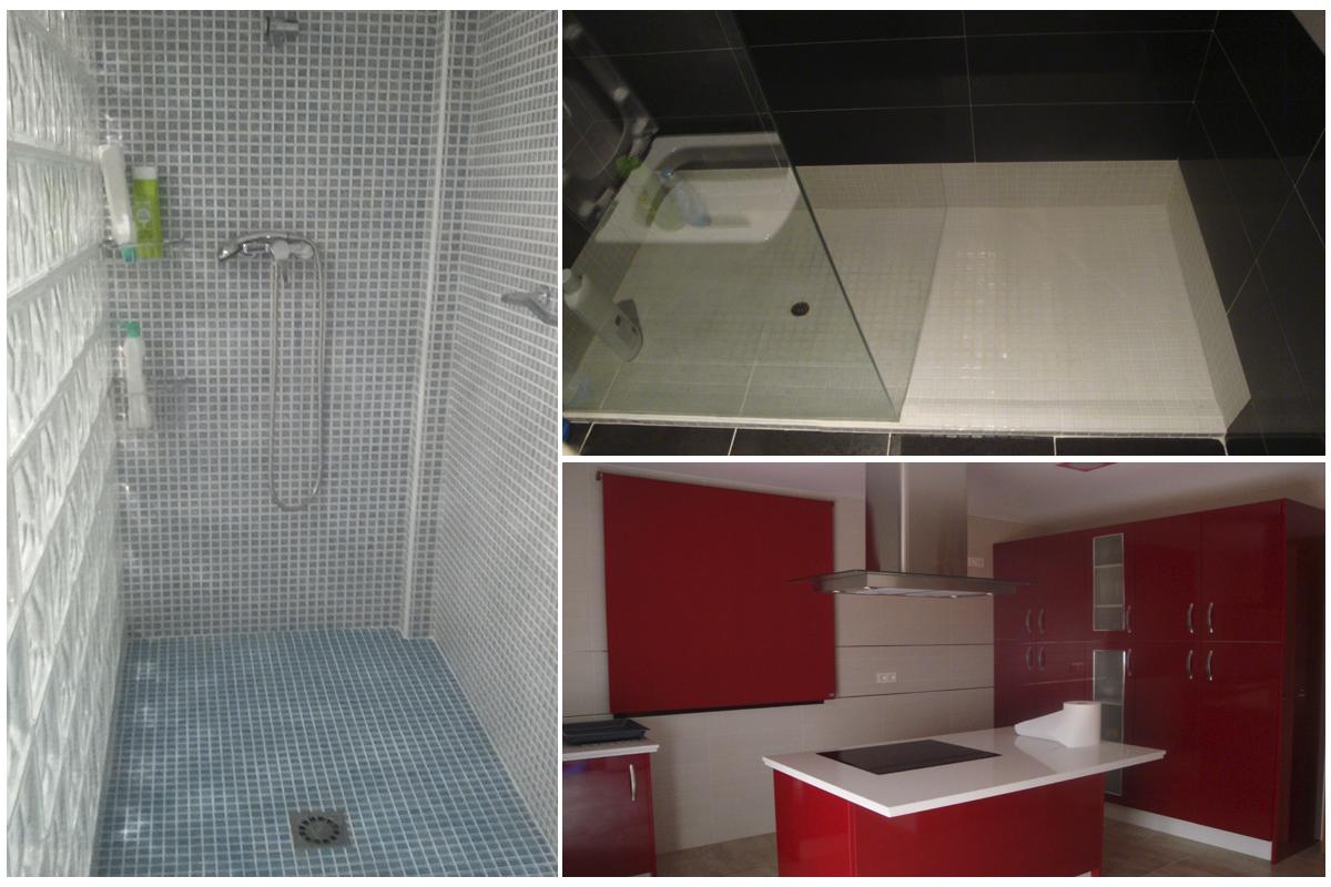 Platos de duchas y cocinas